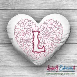Sweetheart Monogram L - 4 sizes