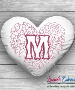 Sweetheart Monogram M - 4 sizes