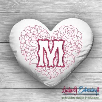 Sweetheart Monogram M - 4 sizes