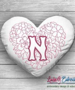 Sweetheart Monogram N - 4 sizes