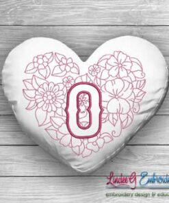 Sweetheart Monogram O - 4 sizes
