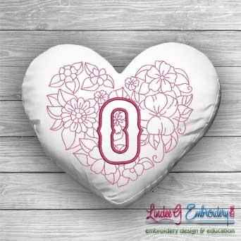 Sweetheart Monogram O - 4 sizes