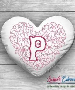 Sweetheart Monogram P - 4 sizes