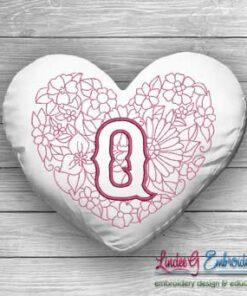 Sweetheart Monogram Q - 4 sizes