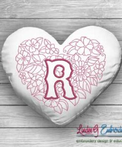 Sweetheart Monogram R - 4 sizes