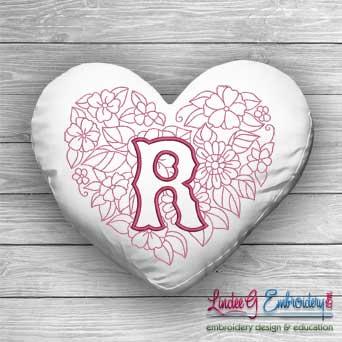 Sweetheart Monogram R - 4 sizes