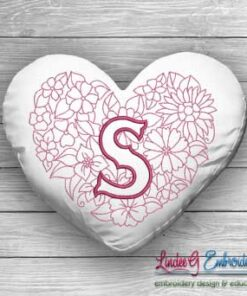 Sweetheart Monogram S - 4 sizes