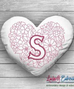 Sweetheart Monogram S - 4 sizes