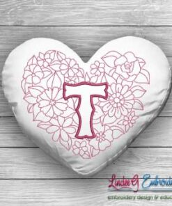 Sweetheart Monogram T - 4 sizes