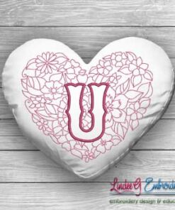Sweetheart Monogram U - 4 sizes