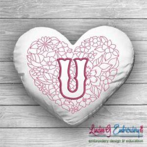 Sweetheart Monogram U - 4 sizes