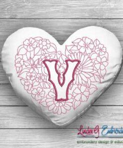 Sweetheart Monogram V - 4 sizes