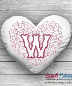 Sweetheart Monogram W - 4 sizes