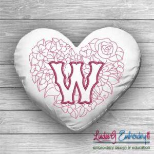 Sweetheart Monogram W - 4 sizes
