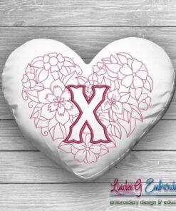 Sweetheart Monogram X - 4 sizes