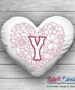 Sweetheart Monogram Y - 4 sizes