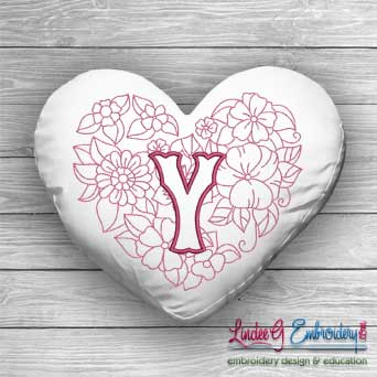 Sweetheart Monogram Y - 4 sizes