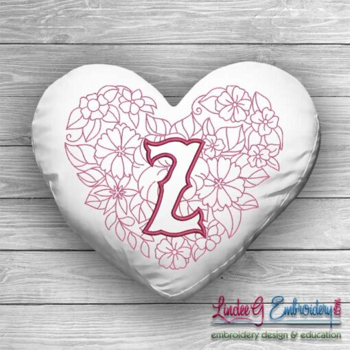 Sweetheart Monogram Z - 4 sizes