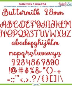 Buttermilk 15mm ESA Font