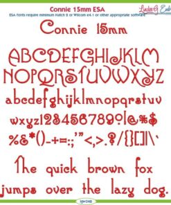 Connie 15mm ESA Font