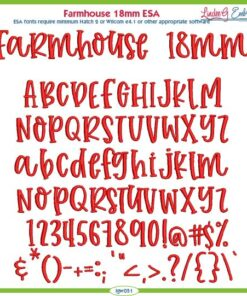 Farmhouse 18mm ESA Font