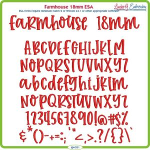 Farmhouse 18mm ESA Font