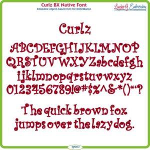 Curlz BX Native Font