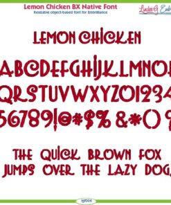 Lemon Chicken BX Native Font