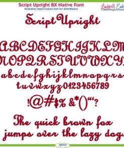 Script Upright BX Native Font