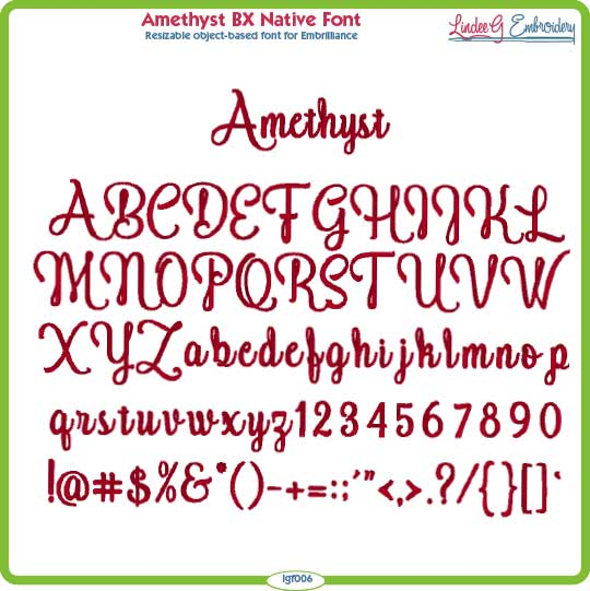 Amethyst BX Native Font