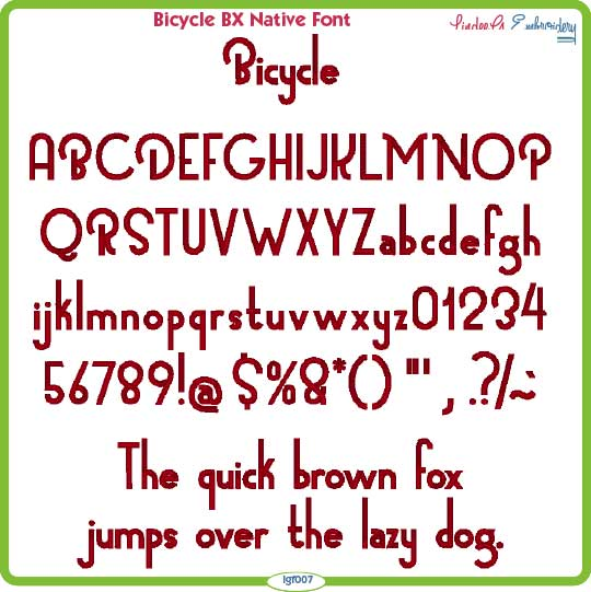 Bicycle BX Native Font