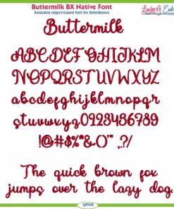 Buttermilk BX Native Font