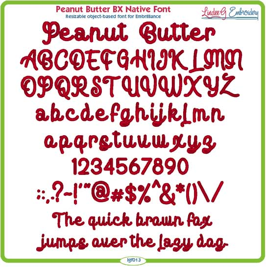 Peanut Butter BX Native Font
