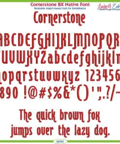 Cornerstone BX Native Font