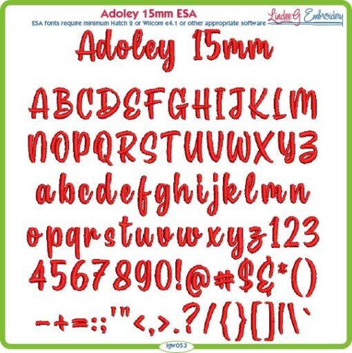 Adoley 15mm ESA Font
