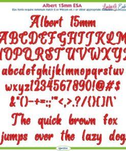 Albert 15mm ESA Font