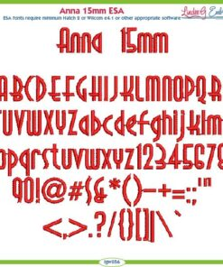Anna 15mm ESA Font