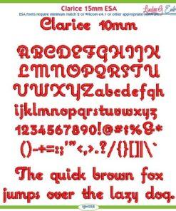 Clarice 10mm ESA Font