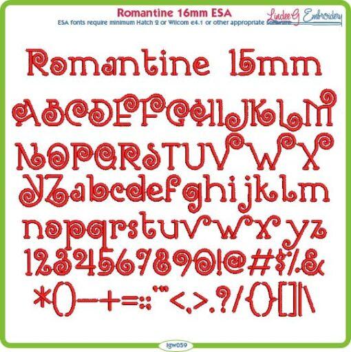 Romantine 15mm ESA Font