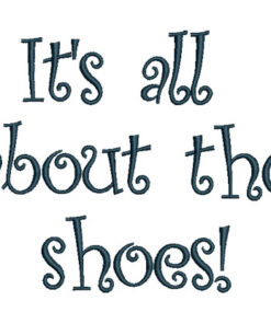 All About Shoes text (5.8 x 4.7-in)