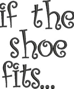 Shoe Fits text (3.8 x 4.5-in)