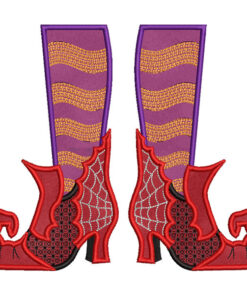 Witchy Shoes with legs (8.4 x 7-in)